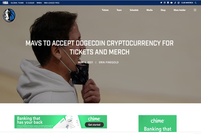 Dogecoin payments