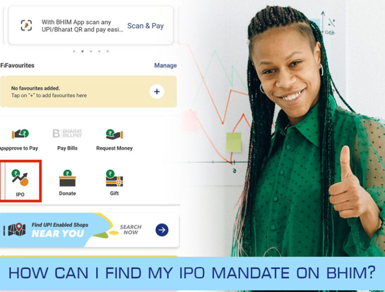 How can I find my IPO mandate on BHIM?